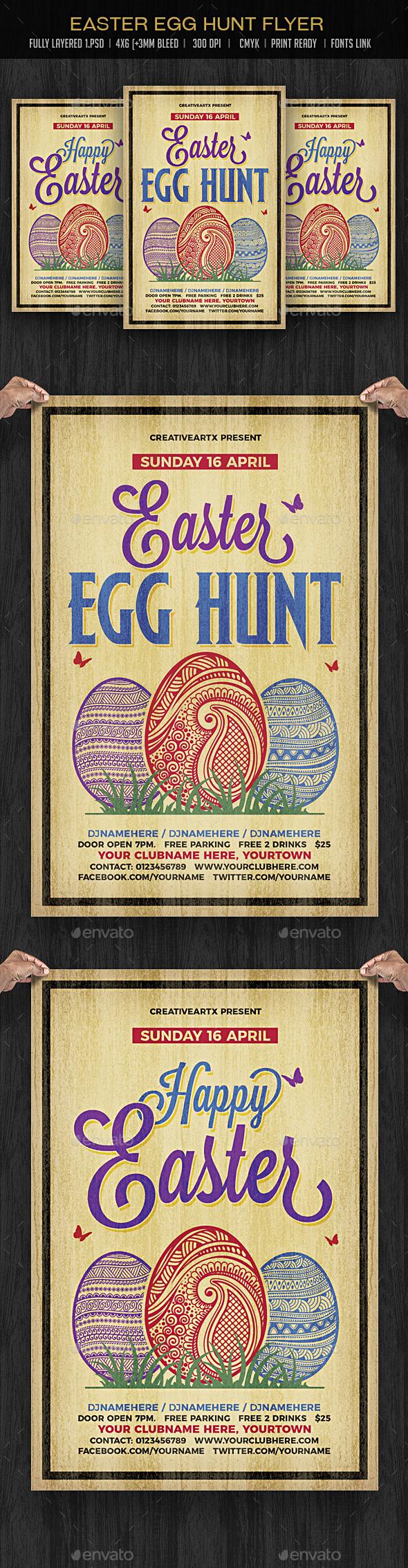 Easter Egg Hunt - Events Flyers