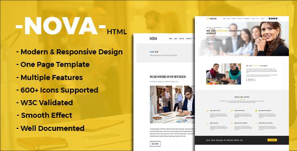 Nova – One Page Multipurpose Template
