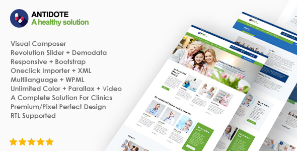Antidote - Health & Medical WordPress Theme - Health & Beauty Retail