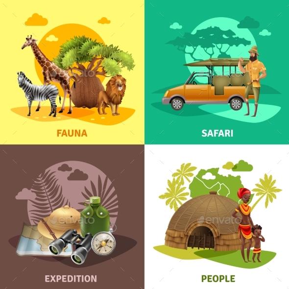 Safari Design Icon Set - Travel Conceptual