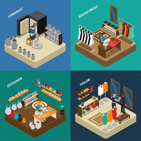 Craftsman Isometric Compositions - Concepts Business