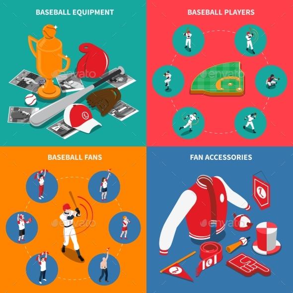 Baseball Isometric Concept - Sports/Activity Conceptual