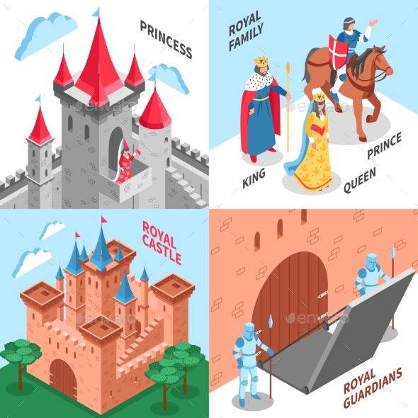 Royal Castle Design Concept - Miscellaneous Vectors