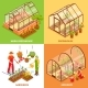 Greenhouse Design Concept Set