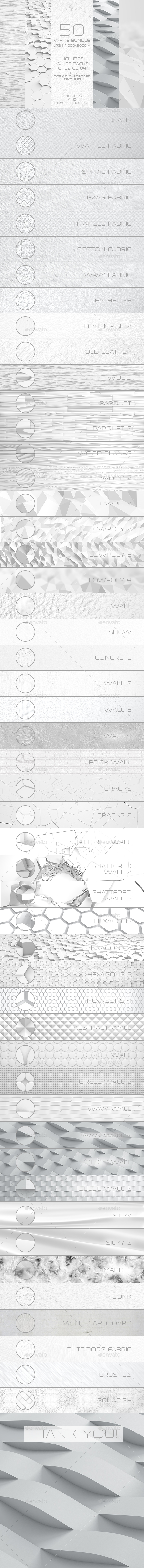 White Bundle 50 Textures and Backgrounds - Backgrounds Graphics