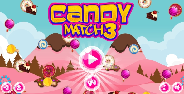 Candy Match-3 - HTML5 Game + Android + AdMob (Capx) - CodeCanyon Item for Sale