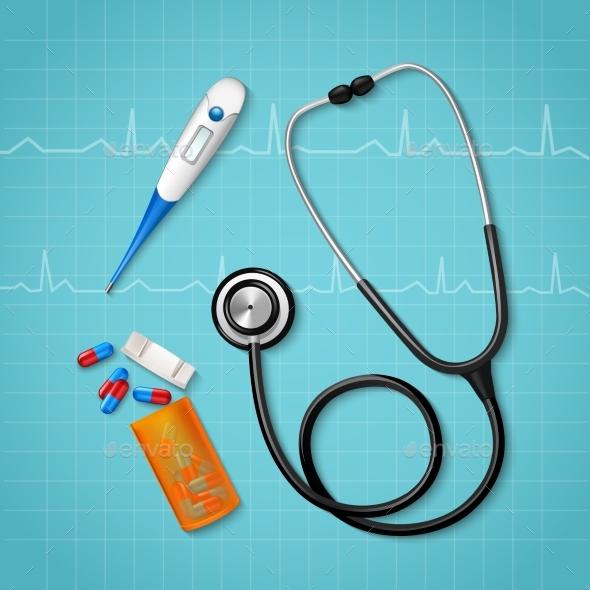 Medical Treatment Tools Composition - Health/Medicine Conceptual