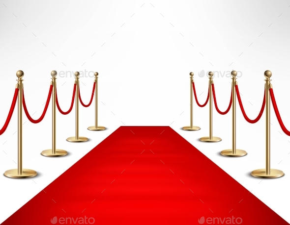 Red Carpet Celebrities Formal Event Banner - Backgrounds Decorative