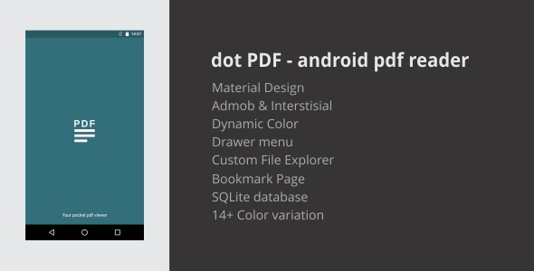 Android application template to view pdf file.