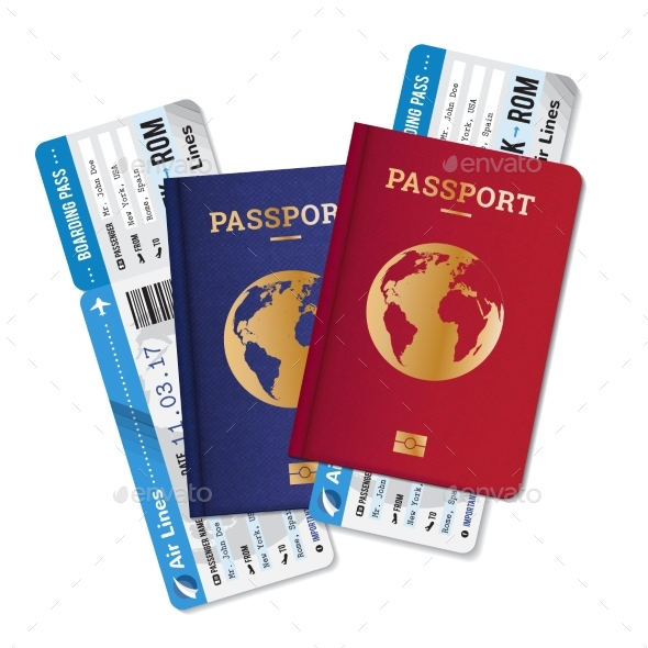 Passports and Tickets - Travel Conceptual