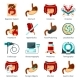 Digestive System Flat Icon Set - GraphicRiver Item for Sale