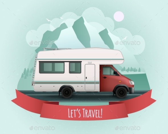 Recreational Vehicle Poster - Travel Conceptual