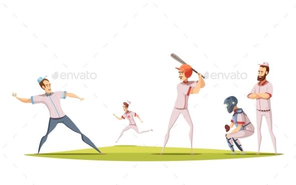 Baseball Players Design Concept - Sports/Activity Conceptual