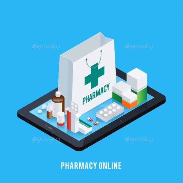 Tablet Pharmacy Online Concept - Health/Medicine Conceptual