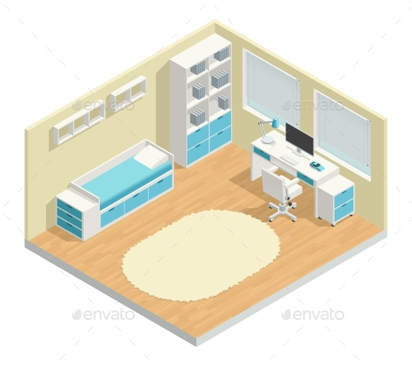 Kids Room  Composition - Buildings Objects