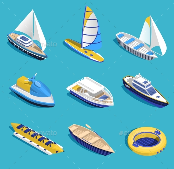 Sea Activities Set - Travel Conceptual