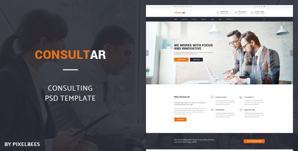 Consultar – Consulting/Business PSD Template