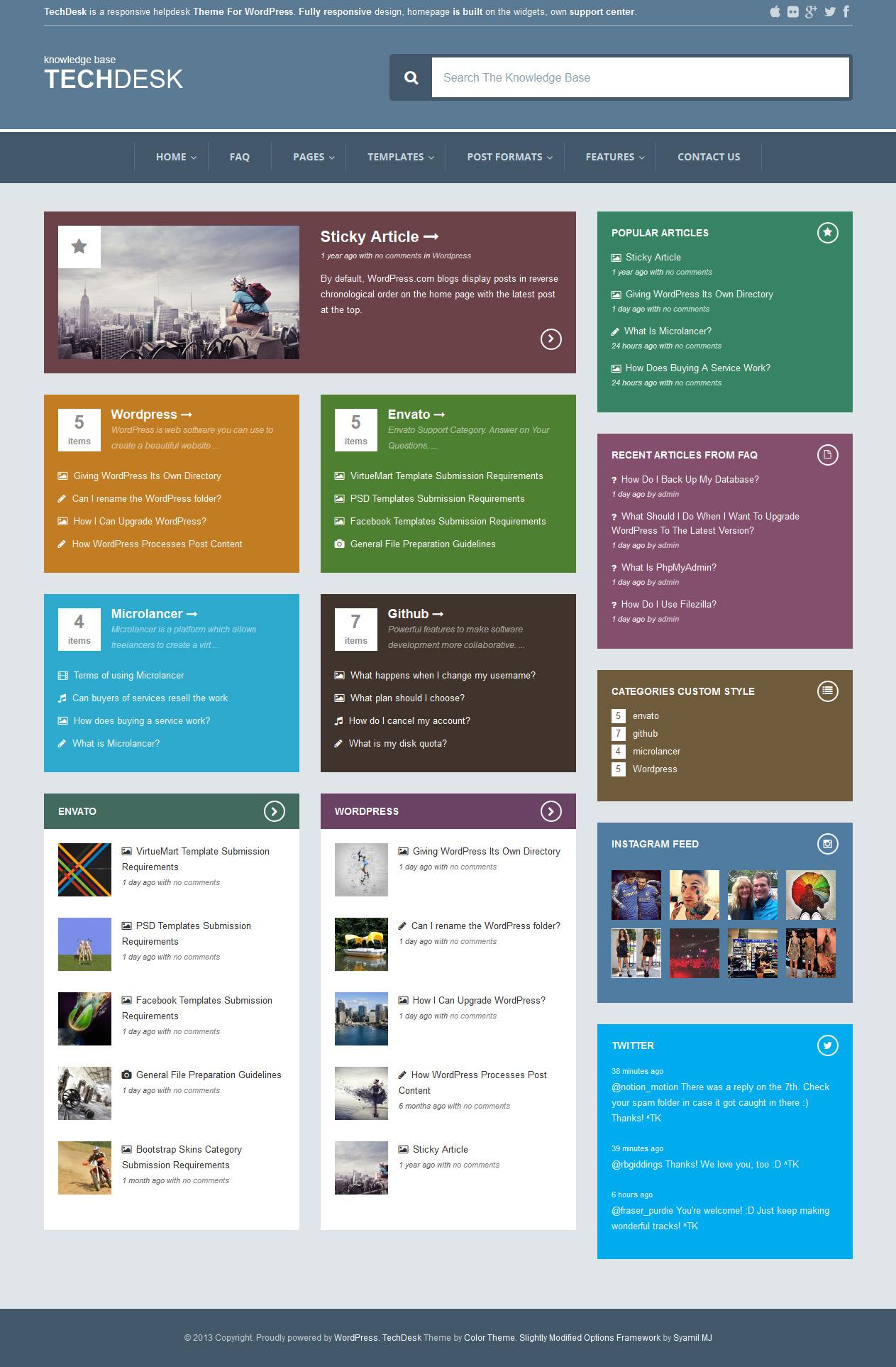 TechDesk - Responsive Knowledge Base/FAQ Theme by ZERGE | ThemeForest