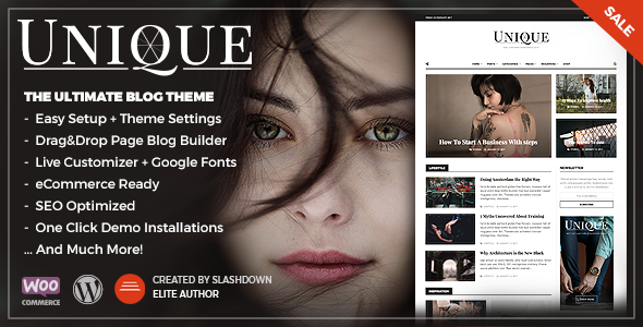 Unique – Personal & Magazine WordPress Responsive Blog Theme