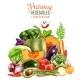Harvest of Vegetables Illustration