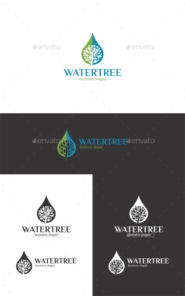 Water Tree - Nature Logo Templates