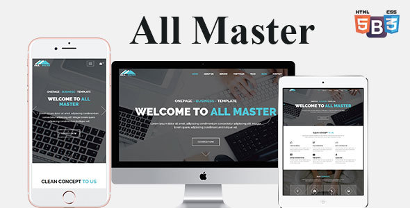 All Master Business HTML Template