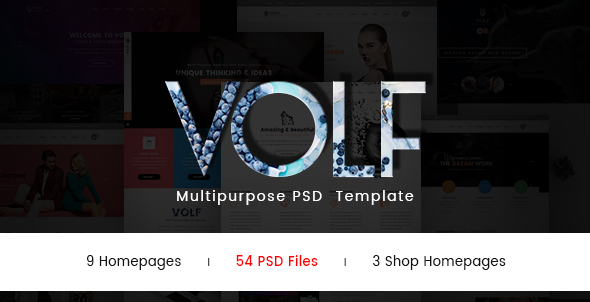 Volf - Creative  Multipurpose PSD Template - Creative PSD Templates