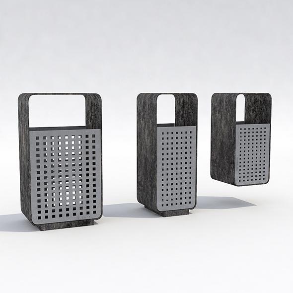 Street trash can - 5 - 3DOcean Item for Sale