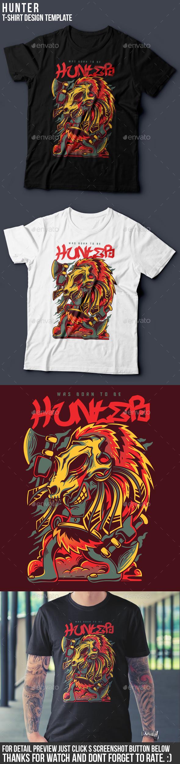 Hunter T-Shirt Design - Clean Designs