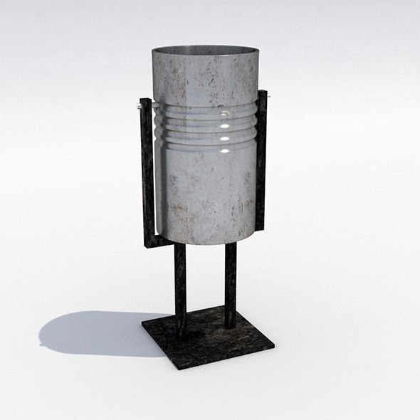 Street trash can - 7 - 3DOcean Item for Sale