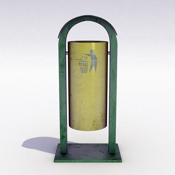 Street trash can - 8 - 3DOcean Item for Sale