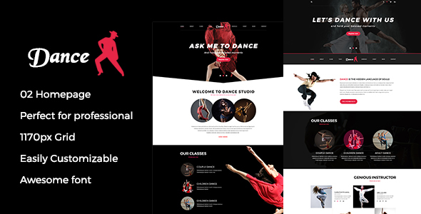 Dance psd template - PSD Templates