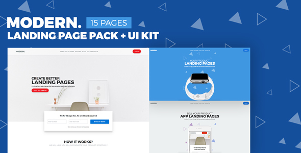 Modern – Multipurpose Landing Page Pack & UI Kit
