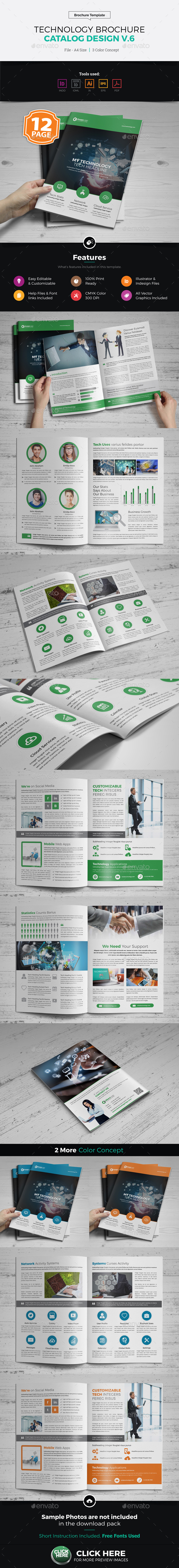 Technology Brochure Catalog Design v6 - Corporate Brochures
