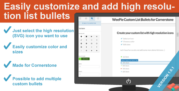 WeePie Custom List Bullets Element for Cornerstone - CodeCanyon Item for Sale