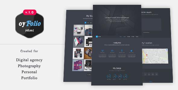 oyFolio – Responsive HTML Portfolio Template
