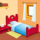 Cartoon bedroom interior - GraphicRiver Item for Sale