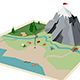 Camping Map Mountain Hiking - GraphicRiver Item for Sale