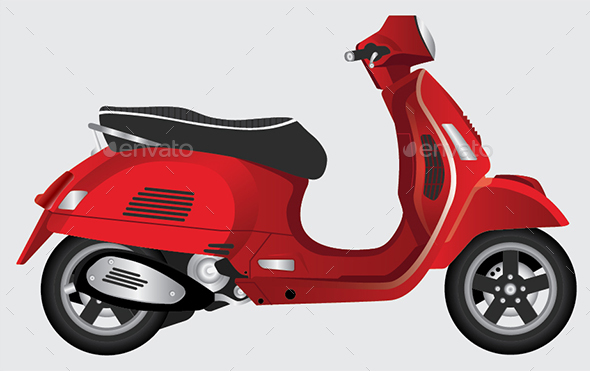 Modern Scooter - Man-made Objects Objects