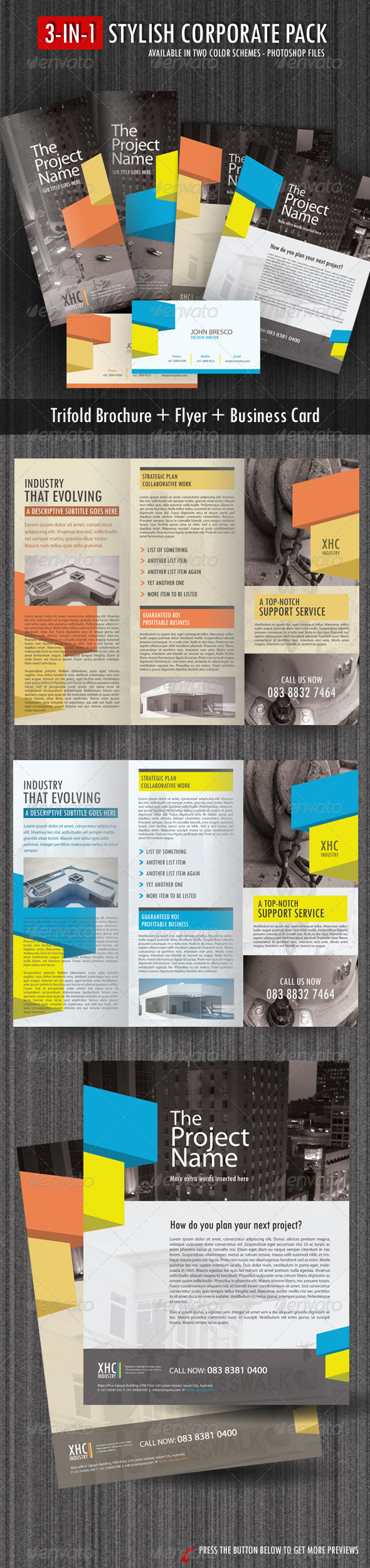 3-in-1 Stylish Corporate Pack - Corporate Brochures