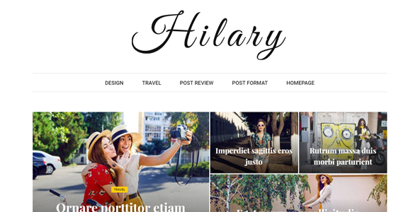 Hilary - Fast - Clean - Flexible WordPress Magazine News Blog Theme - News / Editorial Blog / Magazine