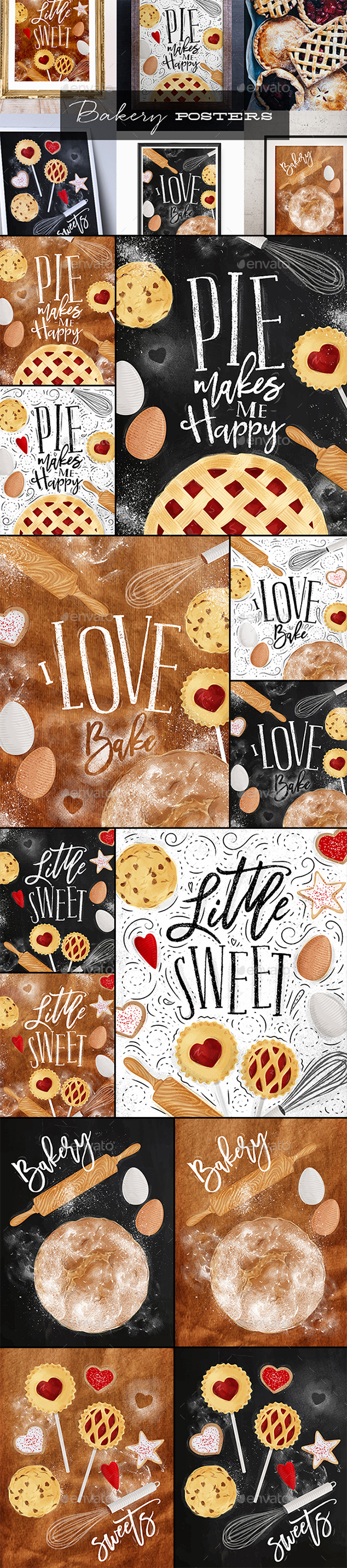 Bakery Posters - Food Objects