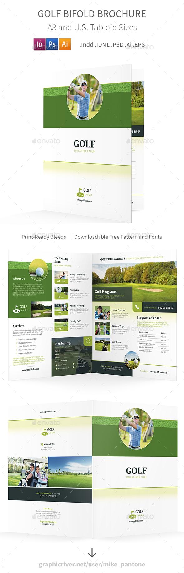 Golf Bifold / Halffold Brochure 5 - Informational Brochures