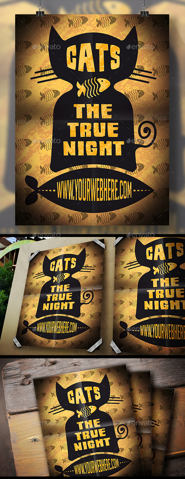 Black Cat Flyer - Miscellaneous Events