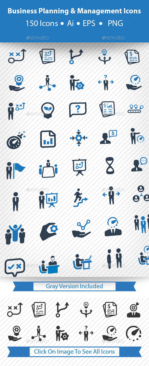 Business Planning & Management Icons - Business Icons