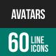 Avatars Line Icons