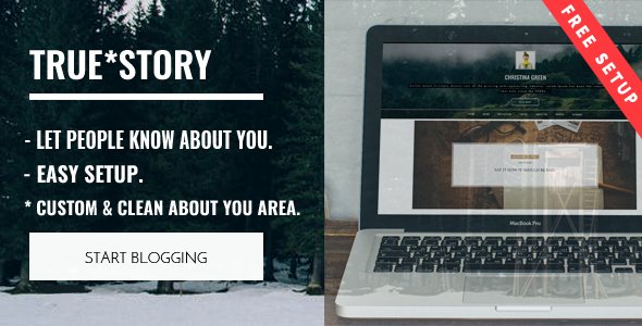 True Story – Multi-Purpose Personal WordPress Blog Theme