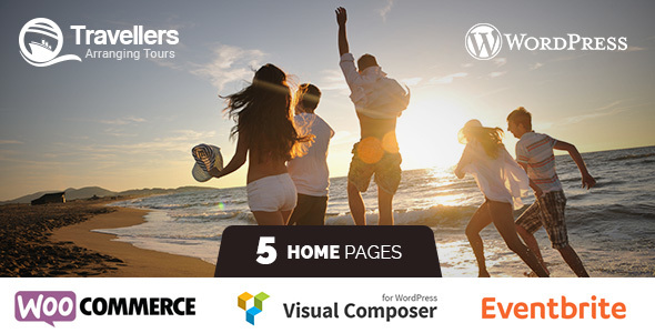 Travellers – Tour & Travels Landing Page WordPress Theme