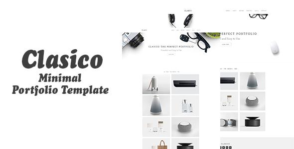 Clasico – Minimal Portfolio Template