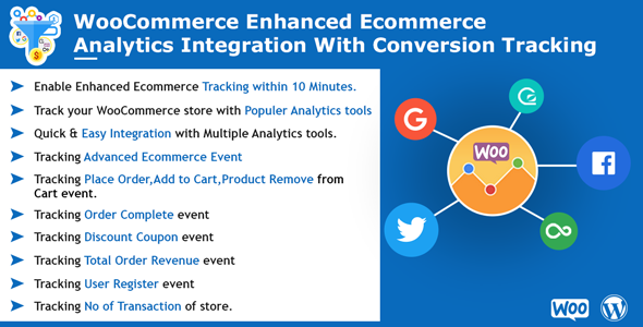 WooCommerce Enhanced Ecommerce Analytics Integration with Conversion Tracking - CodeCanyon Item for Sale